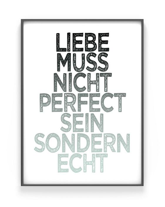 Love Sprüche Poster | Personalisiert | Minz | Printcandy