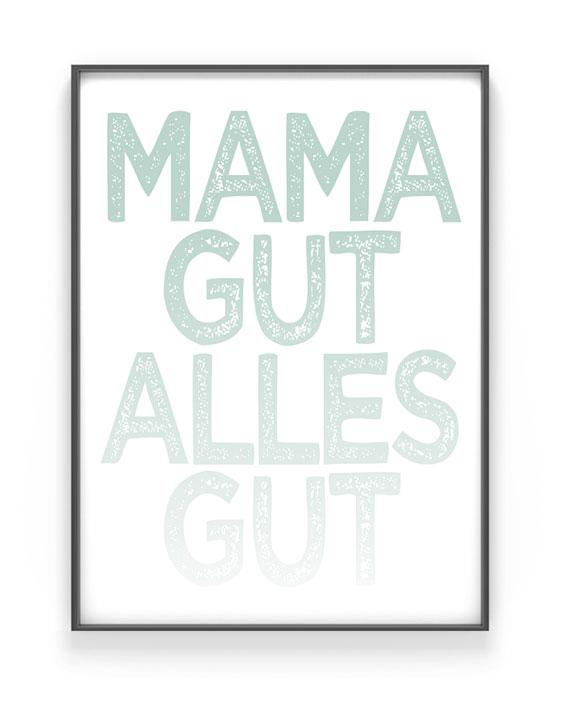 Sprüche Poster | Personalisiert | Gelb | Muttertag | Printcandy