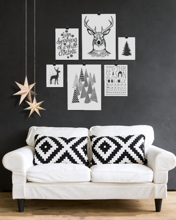 Poster zu Weihnachten. Dekoideen zu Weihnachten