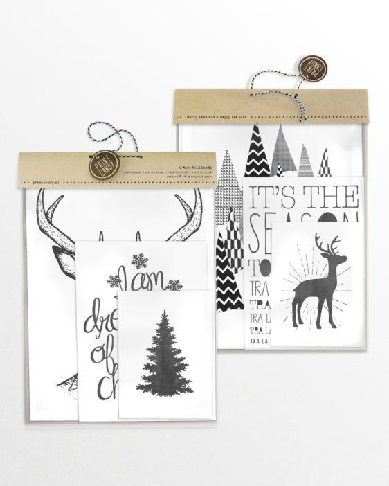 Posterset zu Weihnachten -Christmas Art-Prints