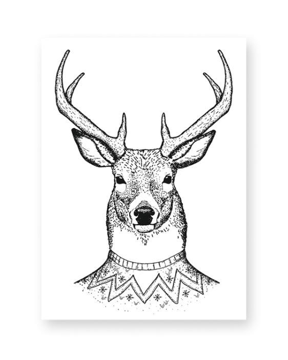 Kunstdruck Hirsch hier kaufen