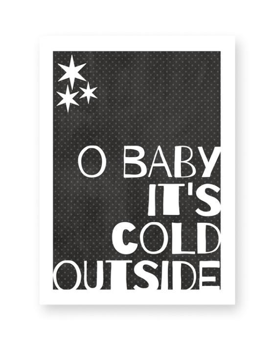 Poster zu Weihnachten - Print Schwarz Weiß Spruche