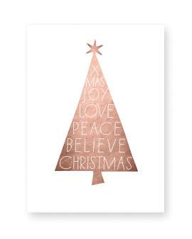 Weihnachtsposter Xmas tree - kupfer - Poster Weihnachten selber gestalten mit Printcandy