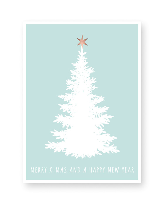 Weihnachtsposter Tannenbaum Silhouette - Poster Weihnachten selber gestalten mit Printcandy
