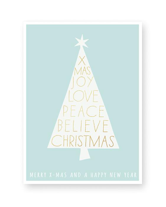 Weihnachtsposter X-mas tree - Poster Weihnachten selber gestalten mit Printcandy