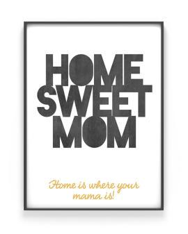 Quote Print | Personalisiertes Poster| Schwarz Weiss | Muttertag | Printcandy
