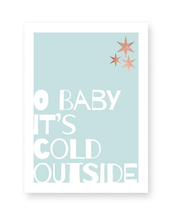 Weihnachts Poster 'X-mas Words' - Poster Weihnachten selber gestalten mit eigenem Text Printcandy