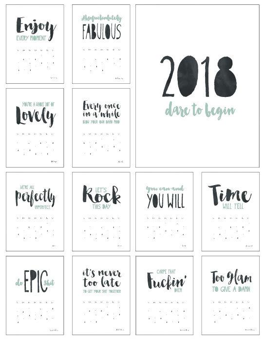 Kalender 2018 Mit Sprüchen Auf Holz
