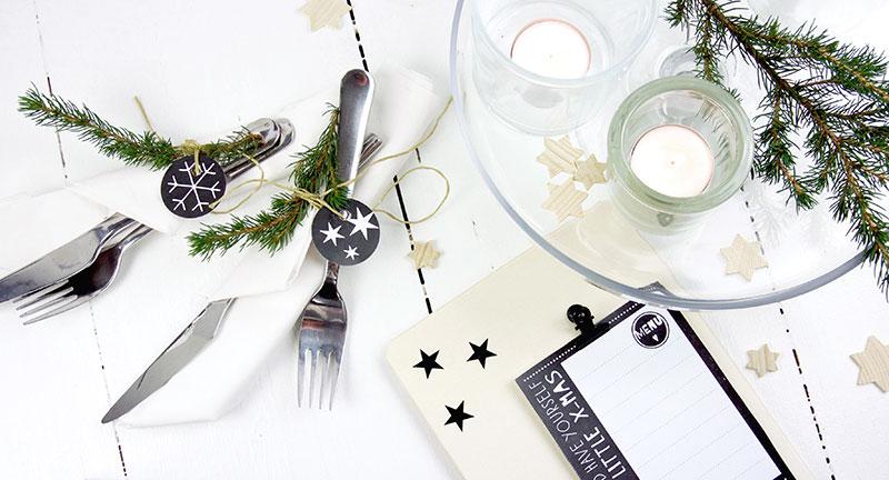 Kostenlose Druckvorlagen Weihnachten in Schwarz Weiss