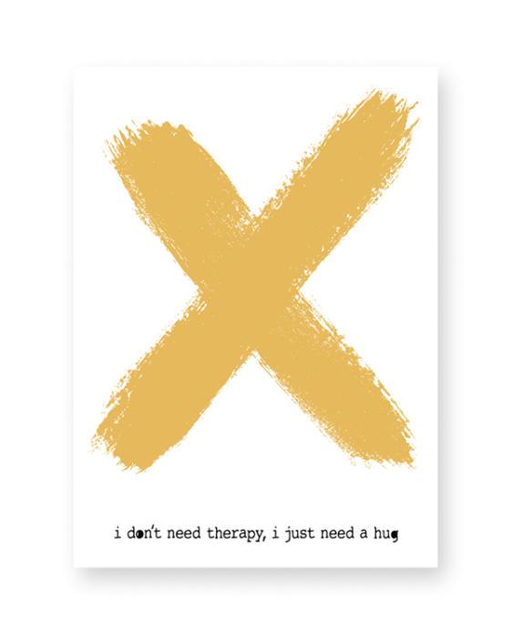 X-Design Poster mit eigenem Text-hier selbst gestalten!