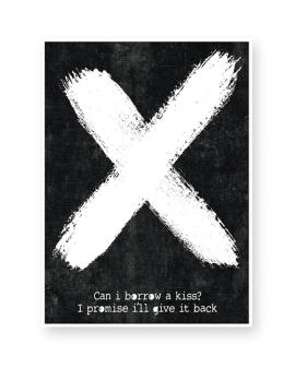 X-Design Poster mit eigenem Text - Schwarz-Weiss