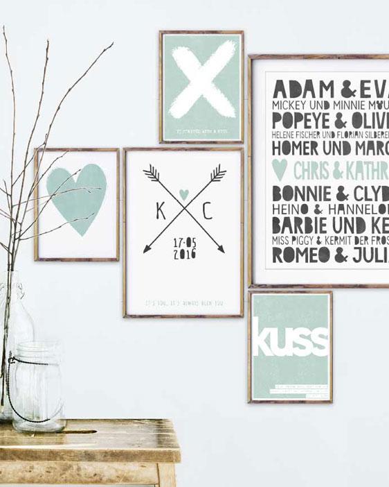 Hier X-Design Poster selbst personalisieren. Inspiration für hippe Wandgestaltung 'Liebe'