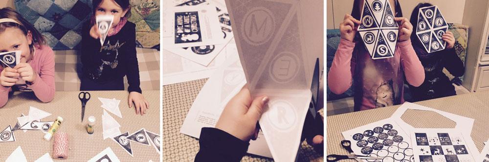 x-mas wimpelkette - gratis weihnachten printables
