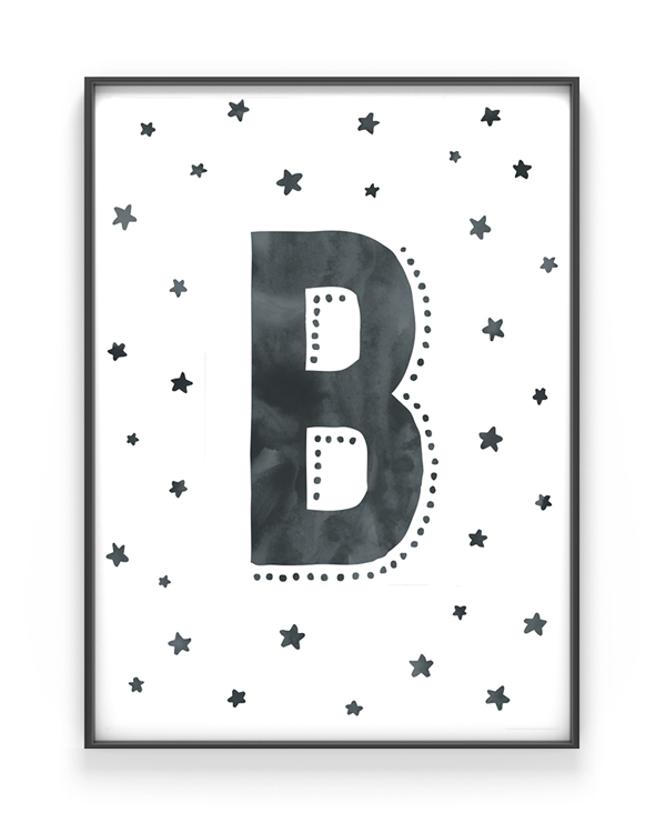 Buchstaben Art Print mit eigenem Letter - Personalisierter Poster selber gestalten bei Printcandy