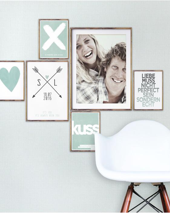 Wandcollage 'Love' mit Deinen Hochzeitsfotos selber machen!