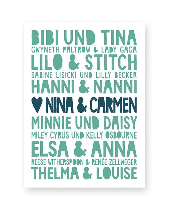 Personalisiertes Poster für beste Freundinnen