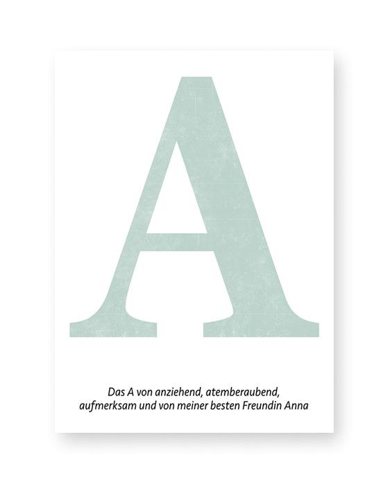 Typografie Print mit Buchstaben | Poster Beste Freundin | Printcandy