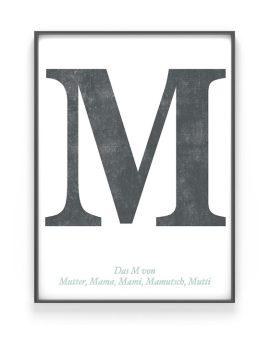 Personalisiertes Typografie Print | Muttertagsgeschenk | Schwarz Weiss | Printcandy