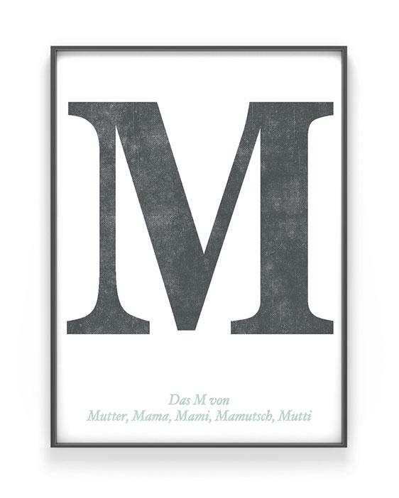 Personalisiertes Typografie Print   Muttertagsgeschenk   Schwarz Weiss   Printcandy
