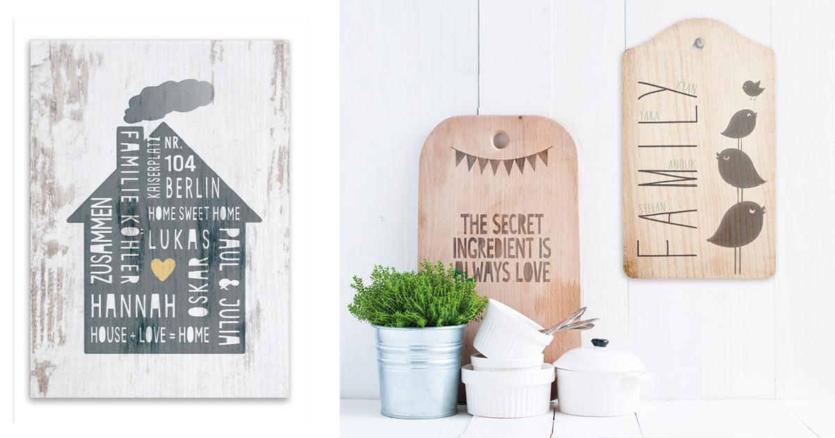 DIY Geschenk - selbst auf Holz drucken - Printcandy