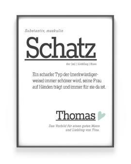 Poster Wort Definition | Personalisiert | Wortbuch Poster | Printcandy