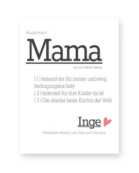 Personalisierter Poster Wort-Definition Mama - Printcandy