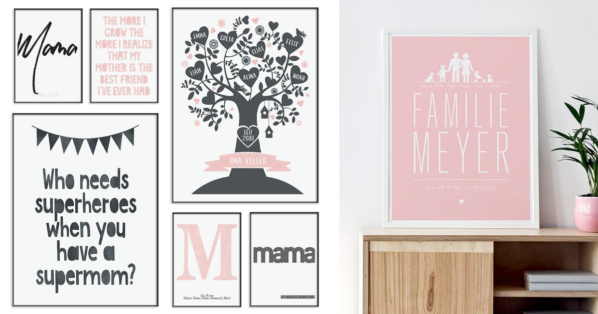 Poster für Mama zum Muttertag - verschiedene Design von Printcandy