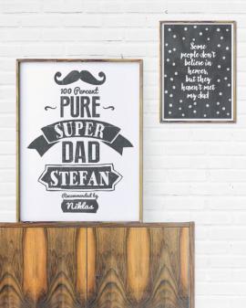 Super Dad Print | Schwarz weiss Poster | Vatertag | Printcandy