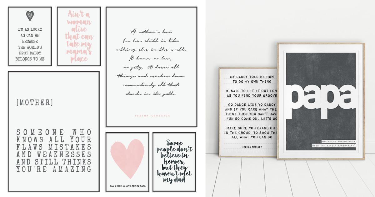 individuelle Text-Poster für Mama und Papa - Geschenk für Mutter von Printcandy