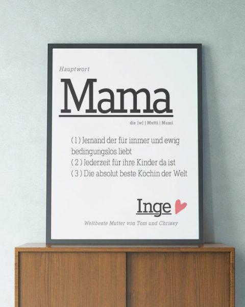 Personalisierter-Poster-Mutter-Vatertag-