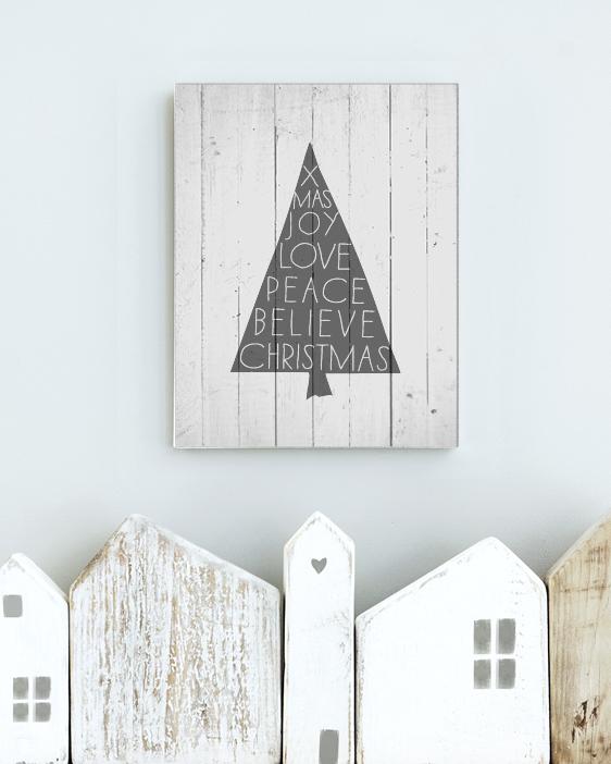 DIY- Anleitung zum Holzdruck - Weihnachtsdeko Natur - Printcandy