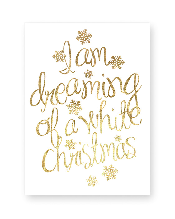 Text Poster Christmas - gold - Printcandy