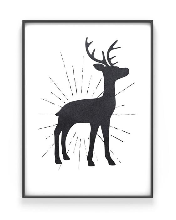 gestalte bei printcandy dein hirsch poster so wie es dir gef llt. Black Bedroom Furniture Sets. Home Design Ideas