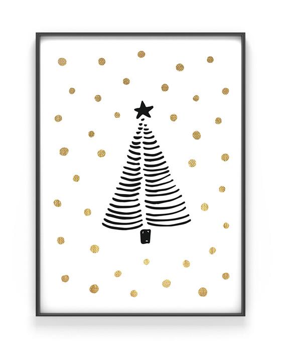 weihnachtsbaum poster printcandy. Black Bedroom Furniture Sets. Home Design Ideas