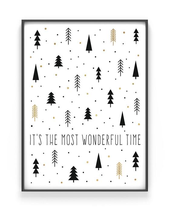 Weihnachtsposter Mein Text im Winterwald | Printcandy