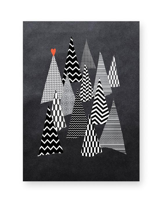 Weihnachts Poster Winter Wonderland- monochrom - Printcandy
