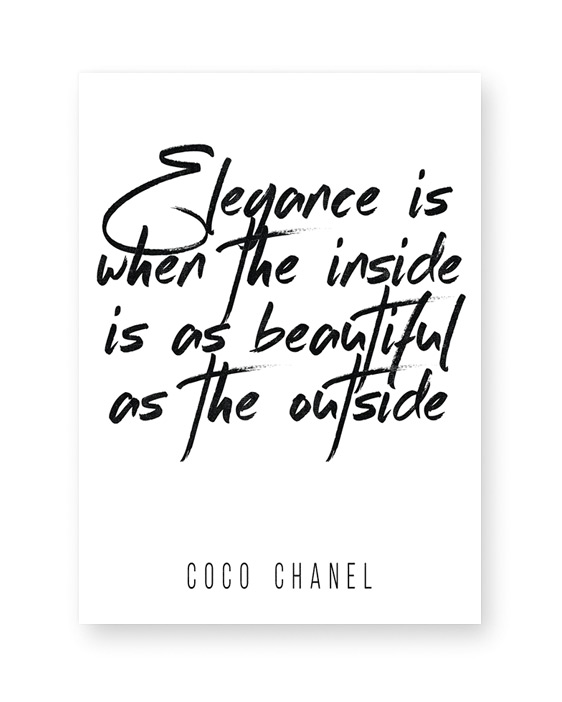 Text Poster mit Chanel Zitat- 30x40 cm- schwarz weiss -bei Printcandy selbst gestalten