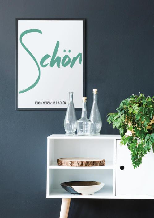 Poster mit deinem Wort | Personalisiert | Grün