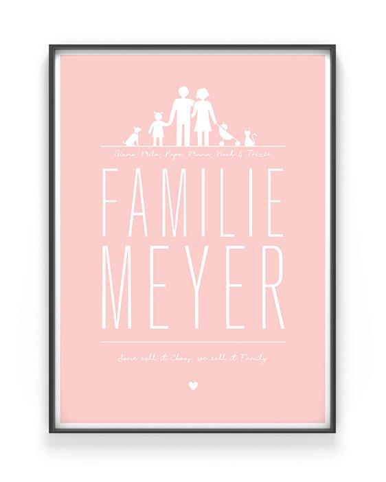 Familien Poster selber gestalten bei www.printcandy.de
