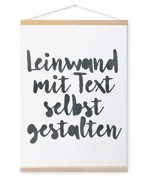 Leinwand mit Text gestalten | Personalisierte Leinwanddrücke Wörter | Printcandy