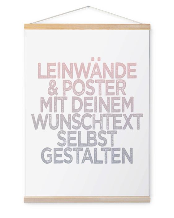 Personalisierte Leinwand Wörter | Leinwand mit eigenem Spruch | Printcandy