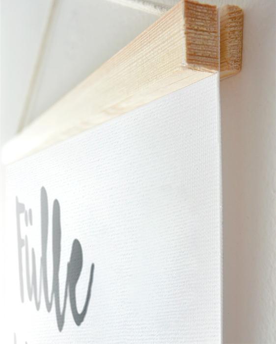 Personalisierte Leinwanddrücke Wörter selbst gestalten | Printcandy