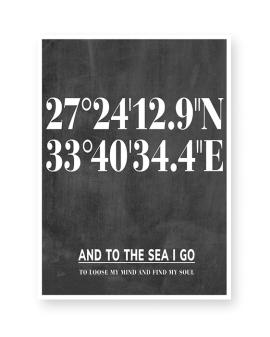Poster mit Koordinaten Ort | Printcandy