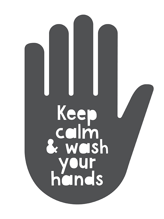 Keep Calm and Wash your Hands Poster | Printcandy