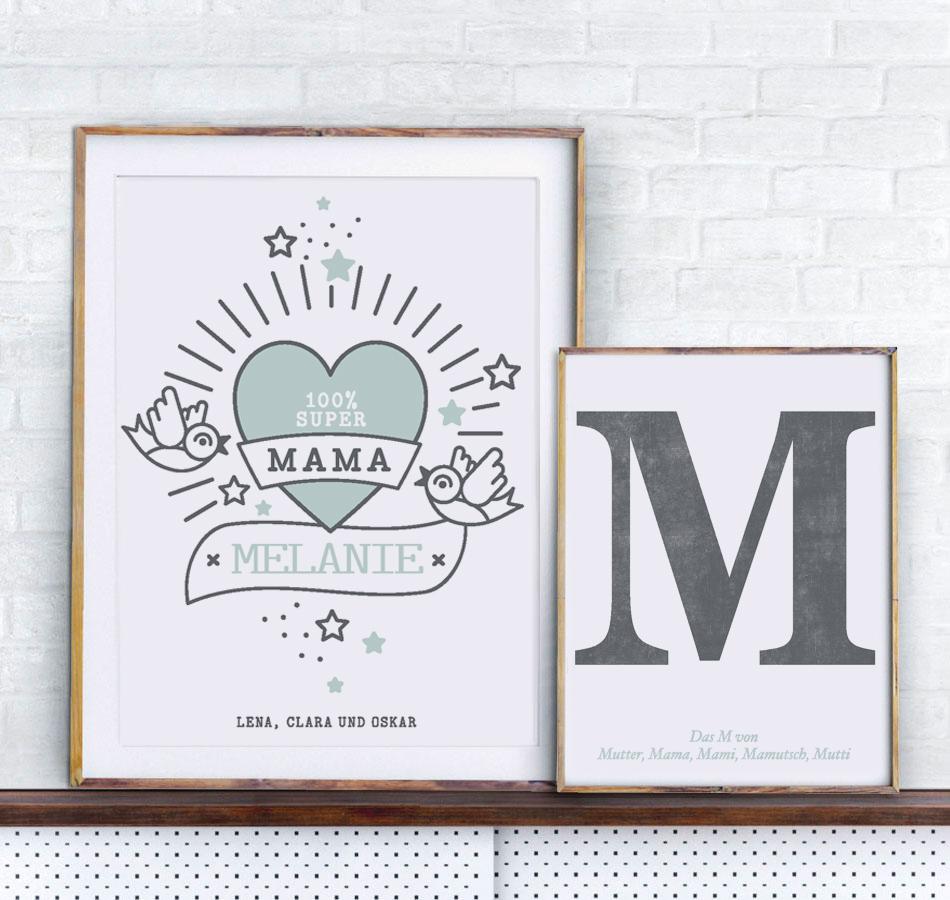 Personalisiertes Poster zum Mutterrtag | Printcandy